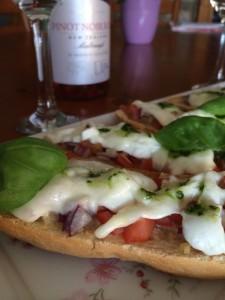 A little treat - Mozzarella Baguette