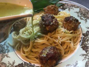 Pork Meatballs in Wild Garlic Cream